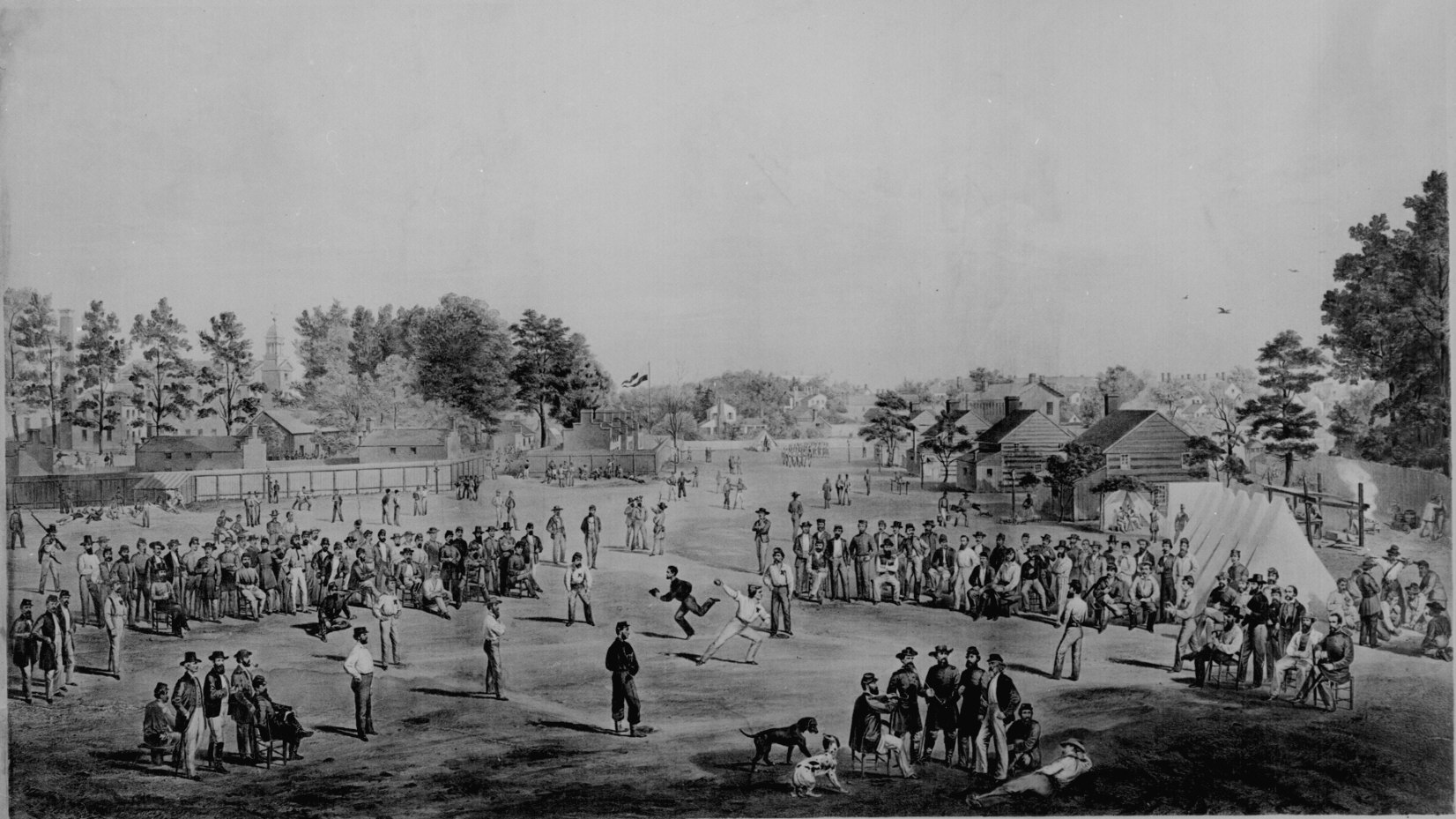 Union Prisoners Playing Baseball in Salisbury